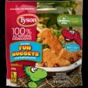 dinosaur shaped chicken nuggets
